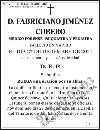 Fabriciano Jiménez Cubero